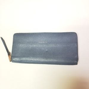 COACH NEW YORK BLUE LEATHER LARGE WALLET